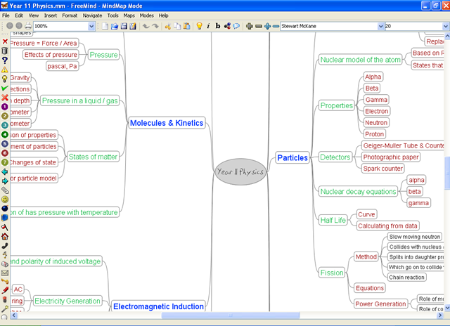 Mind map mr mckane physics blog heres a screenshot of the centre of a mind map ive put together for my y11 revision class you can easily close down branches and spread them out ccuart Choice Image